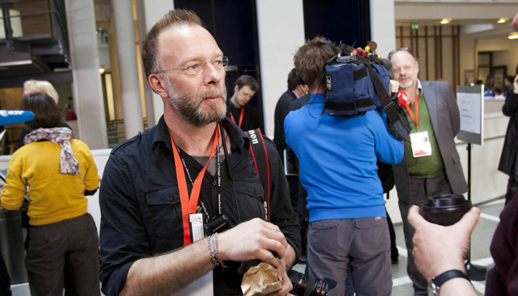 Fotograf Heiko Junge under en pause i hovedforhandlingene. Foto: Kathrine Geard