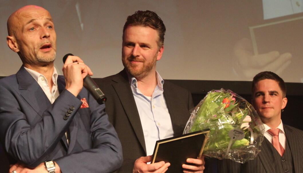 Eskil Engdal (t.v.) og Aleksander Nordahl vant den tredje IR-prisen i historien. Foto: Birgit Dannenberg
