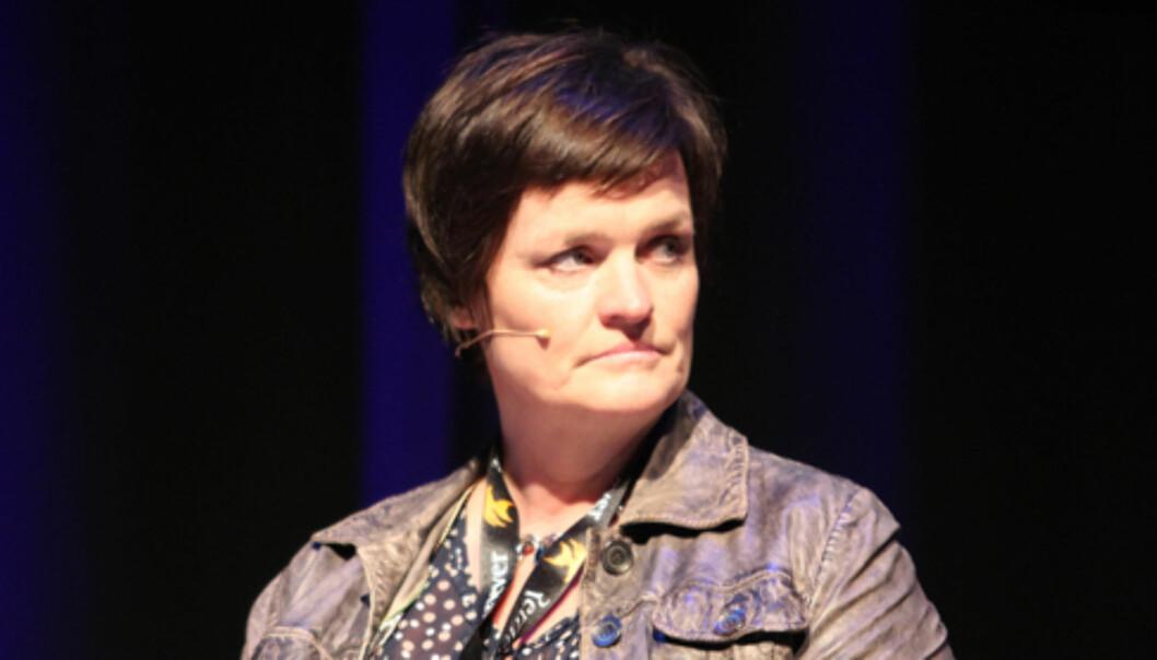 Bistandsadvokat Mette Yvonne Larsen rettet flere ganger sterk kritikk mot pressen. Foto: Birgit Dannenberg