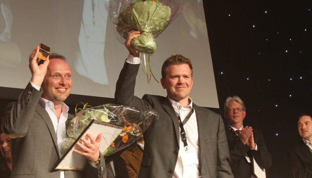 DN-journalistene Kjetil Sæter og Gøran Skaalmo vant Skup-prosen 2011. Foto: Birgit Dannenberg