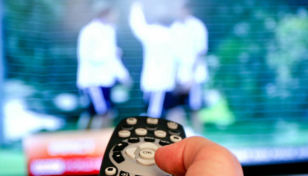 En gjennomsnittsnordmann så daglig to timer og 37 minutter på TV i fjor. Foto: Martin Huseby Jensen