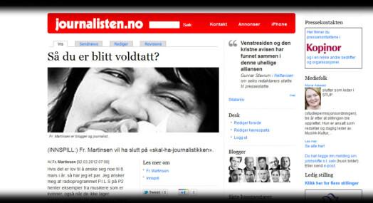 Journalister delt om voldtektsomtale