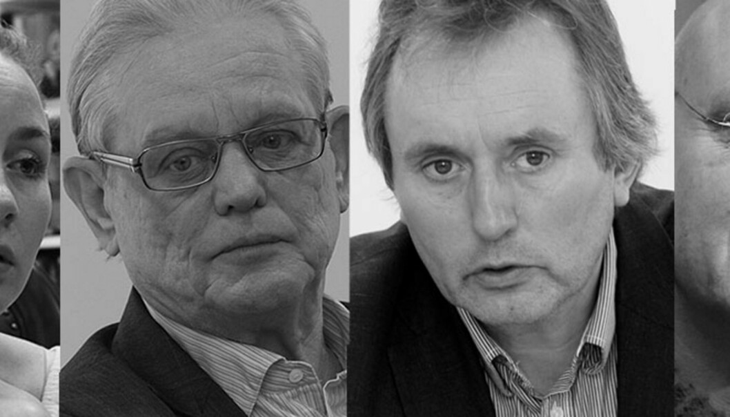 Sjefredaktørene Kaia Storvik og Arne Strand i Dagsavisen, konsernsjef Helge Simonnes i Mentor Medier og sjefredaktør Bjørgulv Braanen i Klassekampen er fire av de seks som legger fram prinsipper for ny pressestøtte.