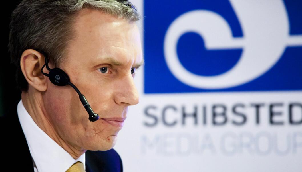 Rolv Erik Ryssdal, konsernsjef Schibsted. Foto:Kathrine Geard