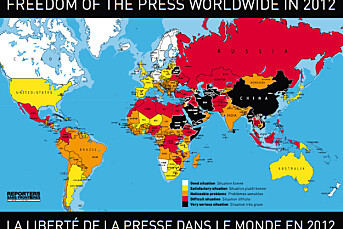 Norge best i verden på pressefrihet