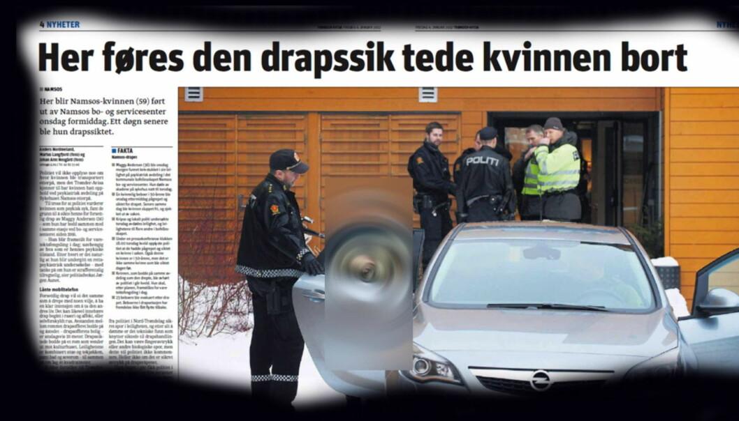 Journalisten har sladdet bildet av kvinnen ytterligere. Faksimile Trønder-Avisa