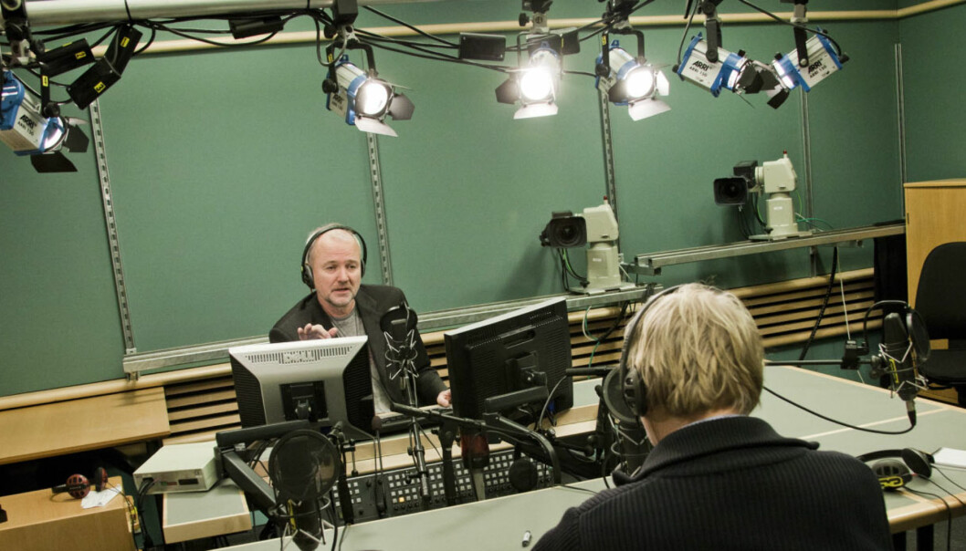 Sverre Tom Radøy er mangeårig programleder i Dagsnytt 18. Han deler på jobben med Anne Grosvold. Foto: Kathrine Geard