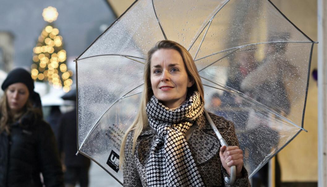 Hilde Sandvik fra BT (delt med Adressas politiske redaktør, Siri Wahl-Olsen) er hyppigste gjest utenfra hovedstaden i NRKS Dagsnytt Atten. Foto: Eirik Brekke