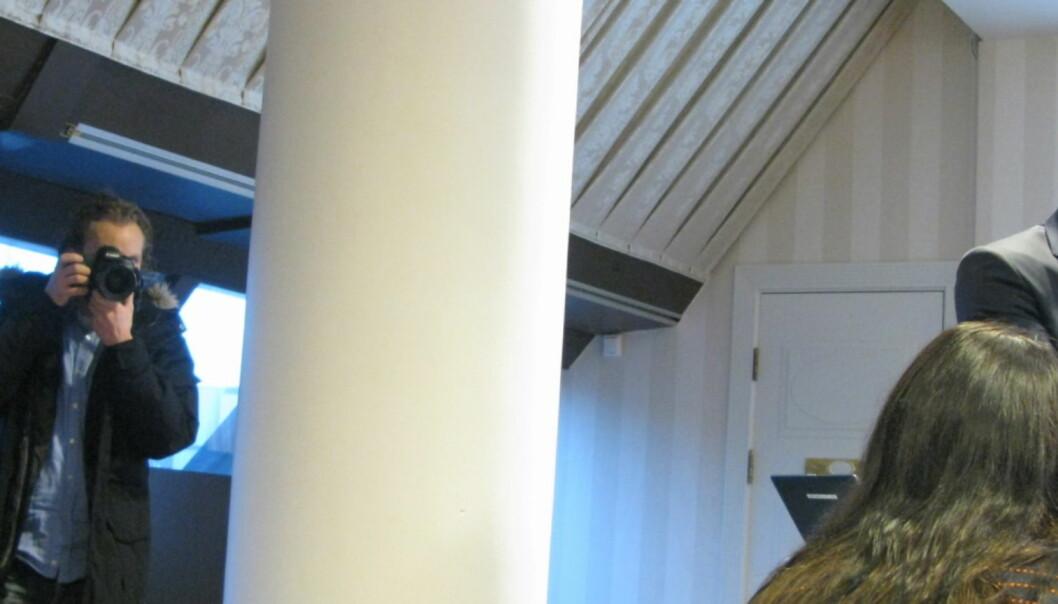 Karl Gunnar Opdal (til venstre i bildet) ønsker å bli i konsernet, men fortsetter neppe som konsernsjef. Den jobben beholder nok Thor Gjermund Eriksen (til høyre). Foto: Martin Huseby Jensen