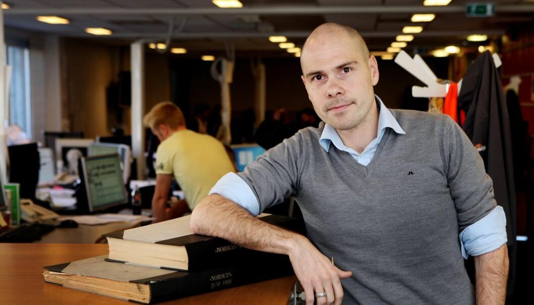 Sjefredaktør i Nordlys, Anders Opdahl. Foto: Yngve Olsen Sæbbe