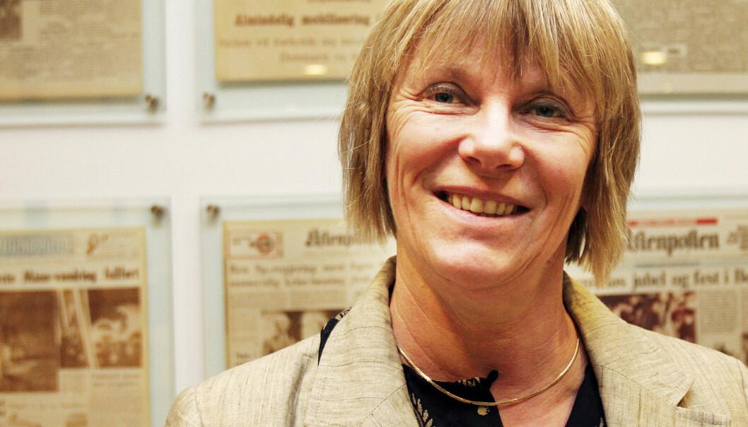 LESERAVISER: Aftenposten-redaktør Hilde Haugsgjerd regner med at vi i framtida vil merke at avisa er laget på oppdrag fra leserne. Foto: Kathrine Geard 20081201 Brukt på nett (20090907), 2009