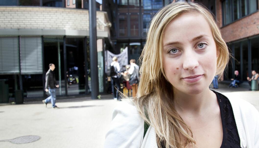 Hildegunn Fallang, student HIOA og rammet fra Utøya. Foto:Kathrine Geard