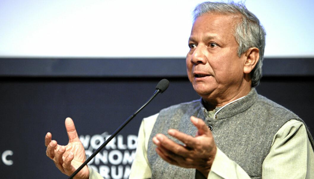 Muhammad Yunus på World Economic Forum i Davos, 29. januar 2009. Foto: swiss-image.ch/Photo by Remy Steinegger