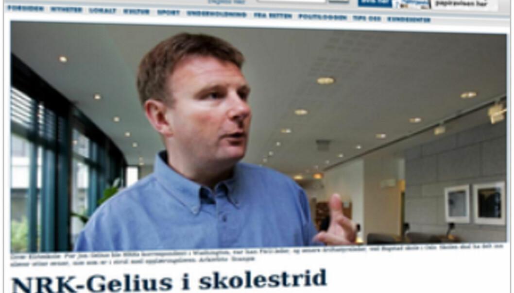 Faksimile av Agderpostens oppslag fredag 17. juni hentet fra Retriever.