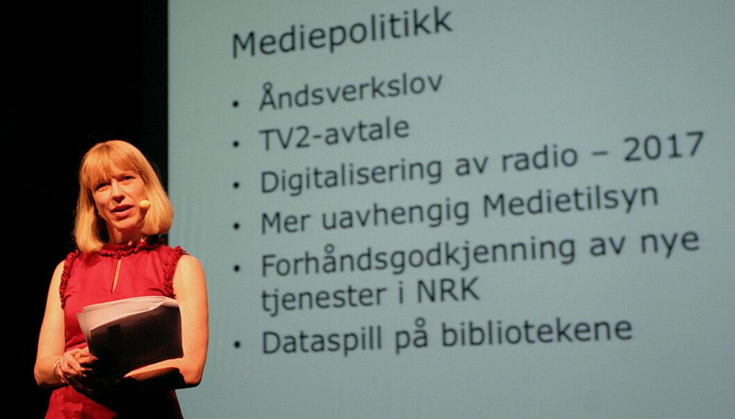 Kulturminister Anniken Huitfeldt oppsummerer 2010 og 2011. Foto: Glenn Slydal Johansen