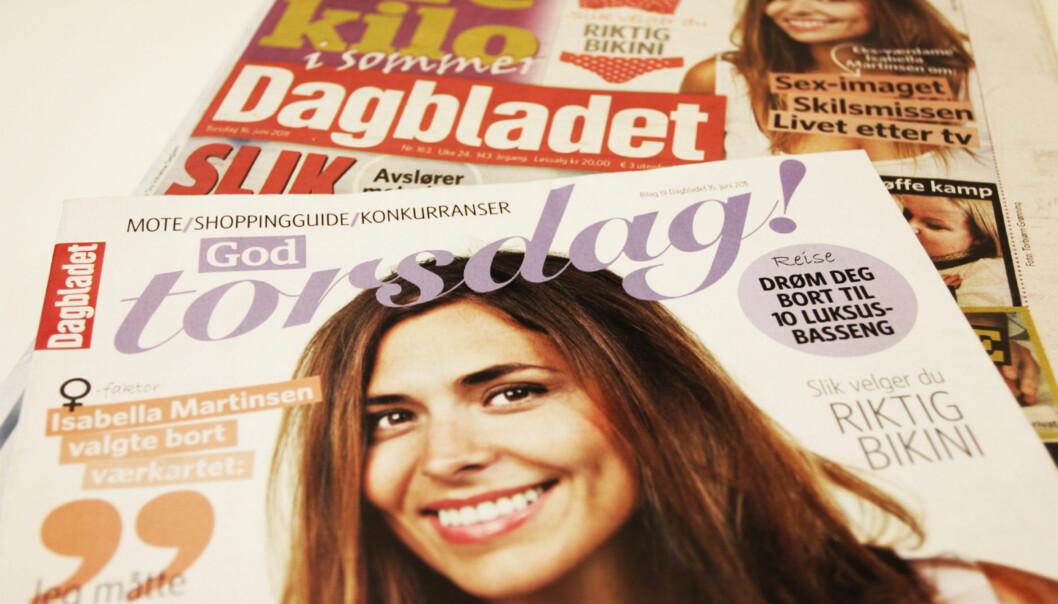 Dagbladet kom ut med nytt magasin torsdag. Foto: Glenn Slydal Johansen