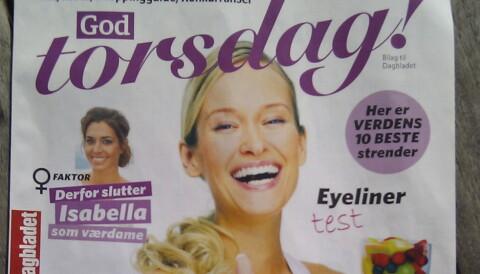 90183ef2 God Torsdag slik det ble presentert av Dagbladet 25. mai. Mobilfoto: Glenn  Slydal