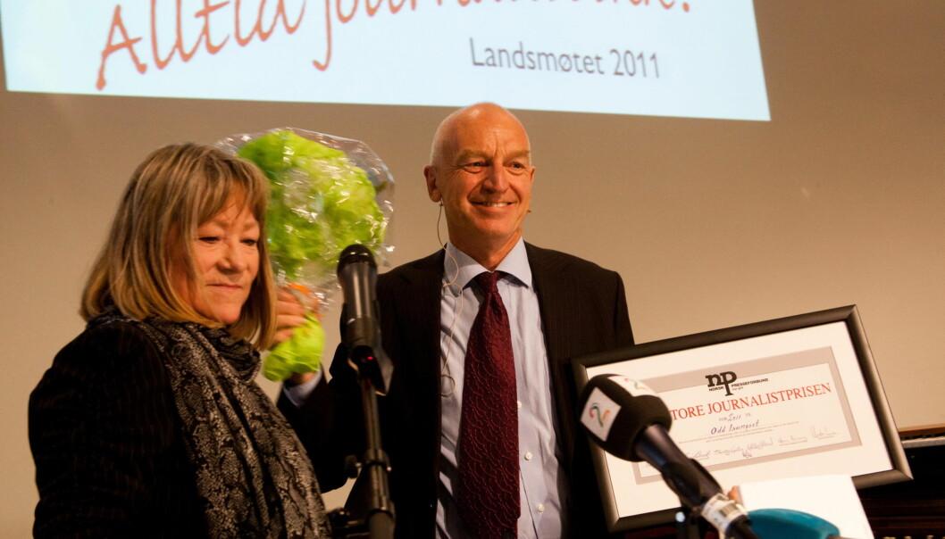 Vinner av den store journalistprisen 2011 er Odd Isungset. Foto:Kathrine Geard