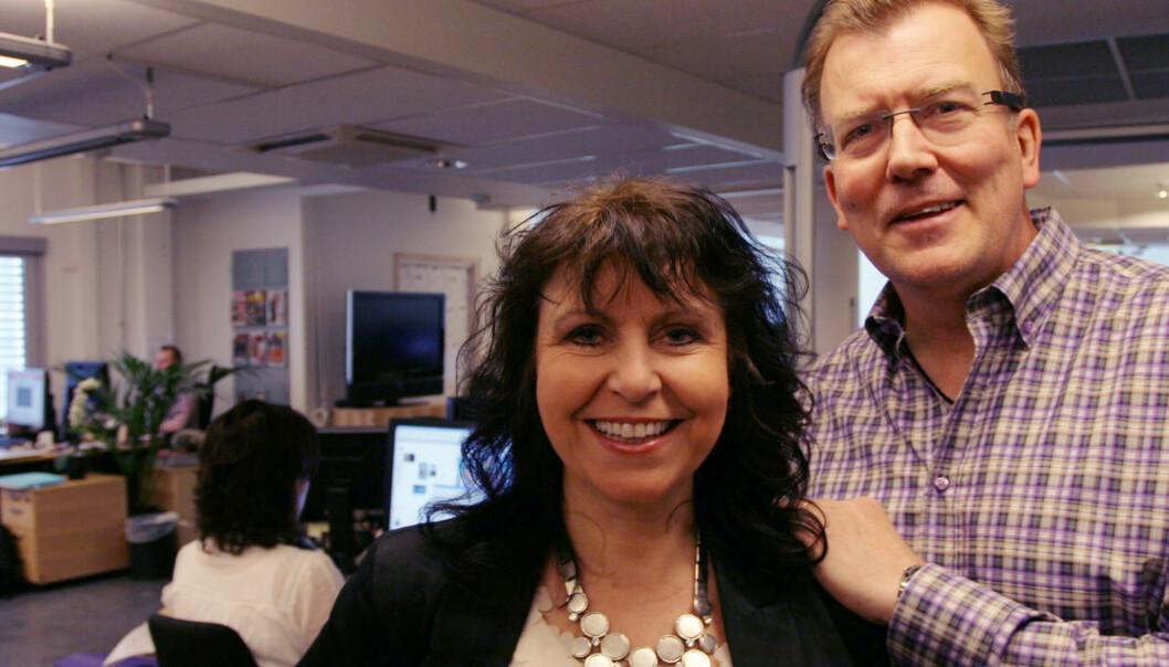 Bente Grønnevik (redaktør for Weekend-utgaven) og sjefredaktør Harald Haave. Foto: Martin Huseby Jensen