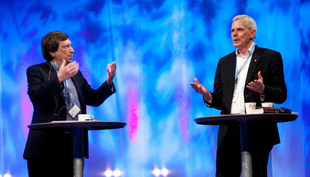 The Guardians graveredaktør David Leigh i het debatt med Wikileaks talsmann Kriostinn Hrafnsson