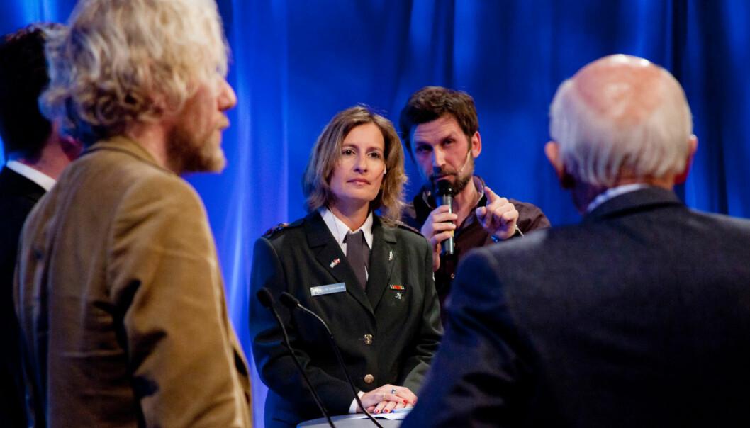 IDF talskvinne Avital Leibovich i debatt med medierepresentanter på Skup. Foto: Kathrine Geard