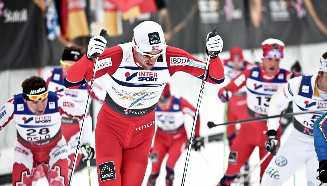 Petter Northug under søndagens 30 kilometer. Foto: Stian Broch/Oslo 2011