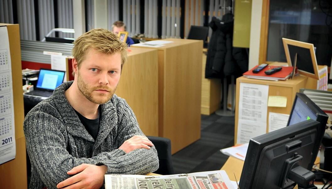 Journalist Robin Røkke Johansen i Finnmark Dagblad. Foto: Iselin Hustad/Finnmark Dagblad