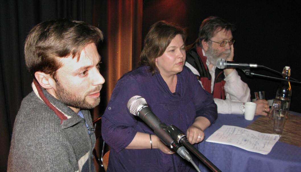 Johannes Wahlström, Elin Floberghagen og Frank Aarebrot. Foto: Bjørn Åge Mossin
