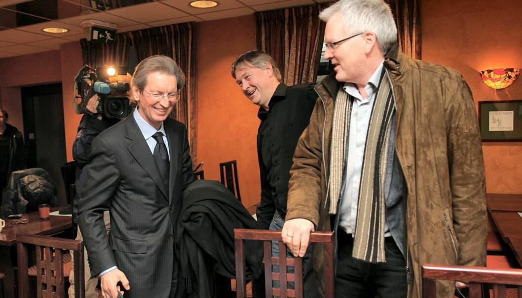 Montgomery møtte Eddas NJ-representanter. Her sammen med tidligere nestleder i NJ, Kjetil Haanes. Foto: Birgit Dannenberg.