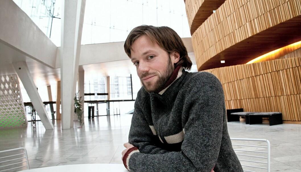 Johannes Wahlström i samtale med Journalisten Foto: Kathrine Geard