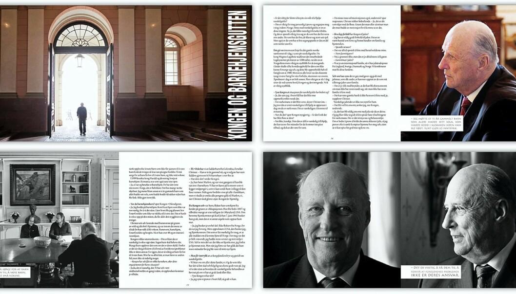 Møtet med Kong Harald dekker 18 sider i =Oslo.