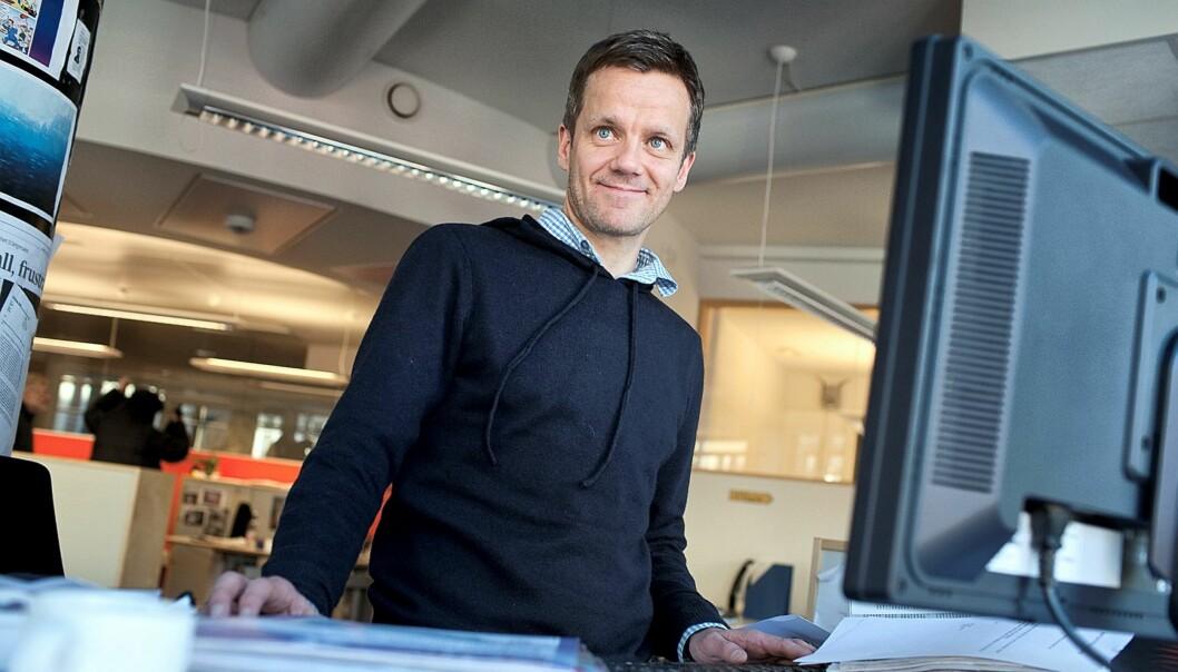 Sjur Holsen (41) er ansatt som Politisk Redaktør i Bergens Tidende. Foto: Odd E. Nerbø