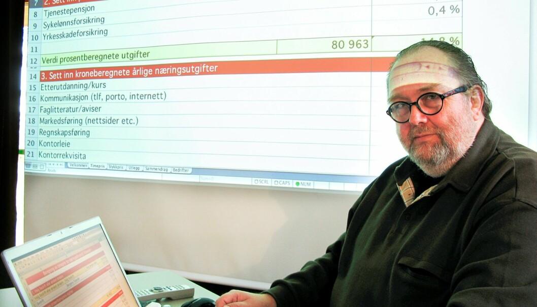 TRYGGHET: – Det er et mål for NJ at frilanserne skal ha samme sosiale trygghet som fast ansatte, sier FJs Toralf Sandåker. FOTO: BJØRN ÅGE MOSSIN.