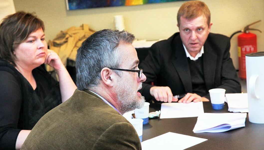 Elin Floberghagen, Jan Omdahl og Jahn-Arne Olsen. Foto: Kathrine Geard