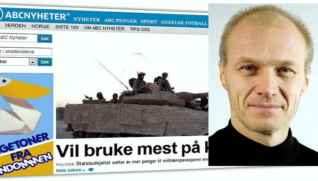 Ansvarlig redaktør Espen Udland i ABC Nyheter. Foto: ABC Startsiden