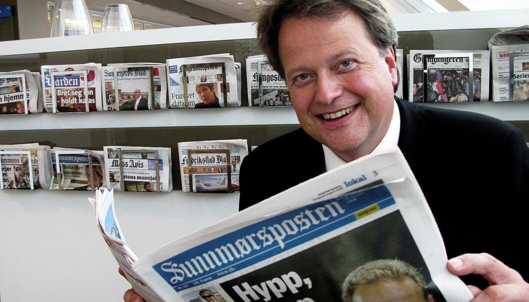 Jan Moberg under sin tid som administrerende direktør i Edda Media. Foto: Martin Huseby Jensen