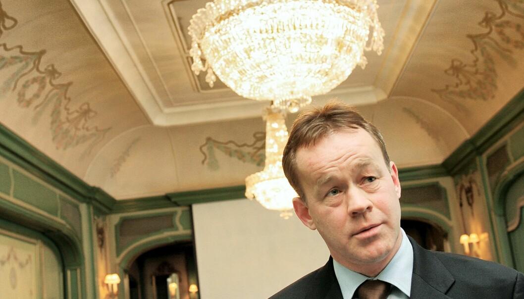 Sjefredaktør Amund Djuve i Dagens Næringsliv. Arkivfoto Journalisten