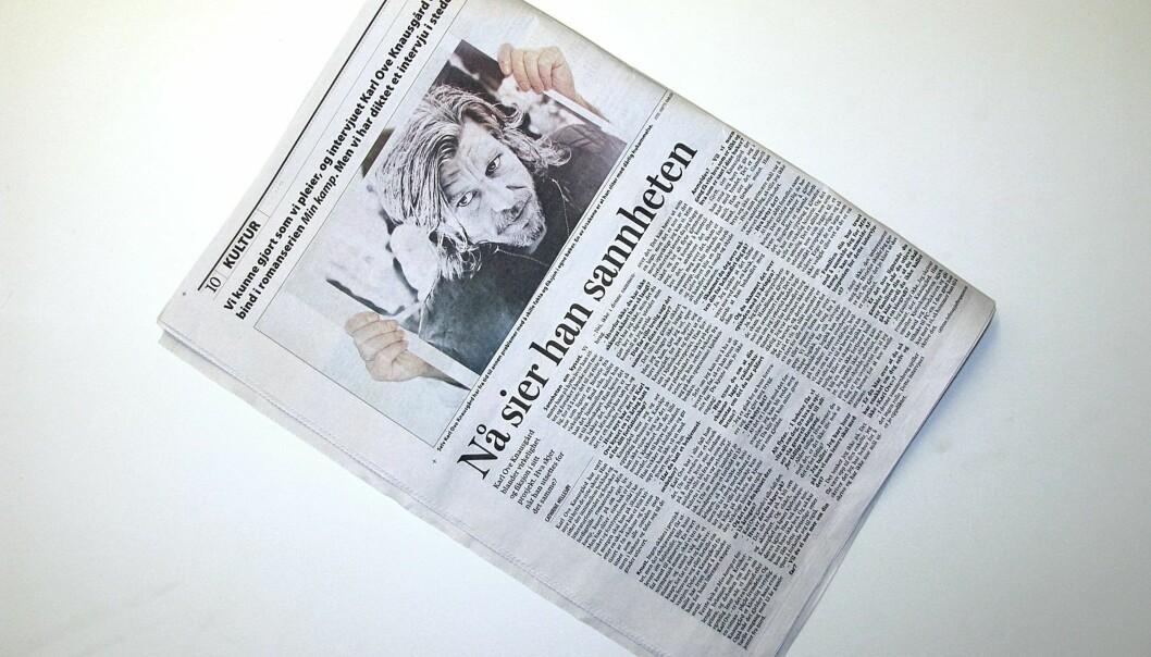 Faksimile av Aftenposten 7. oktober 2010.