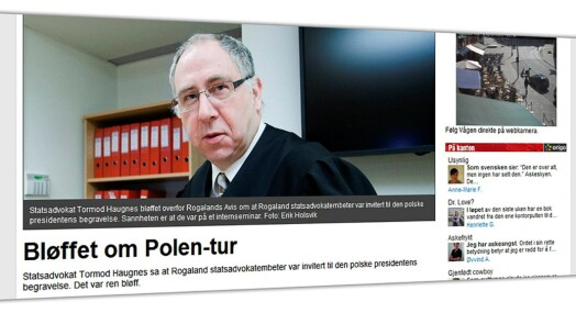 Anklager statsadvokat for pressebløff