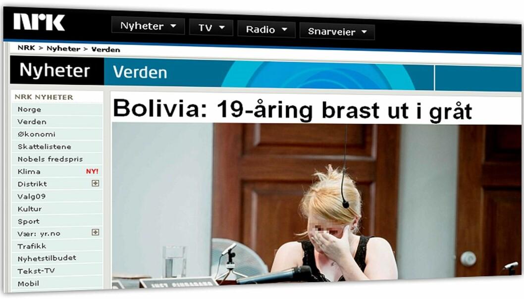 Faksimile av NRK.no 8. april 2010.