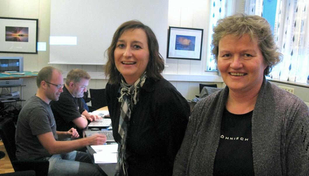 Til venstre Bodø-graverne Iris Lyngmo og Inger Anne Lillebø i forgrunnen. Bak Jens M. Johansson (nærmest) og André Verløy. Foto: Martin Huseby Jensen