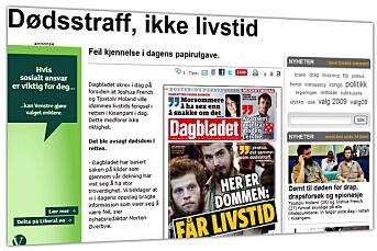 Dagbladet beklager forside