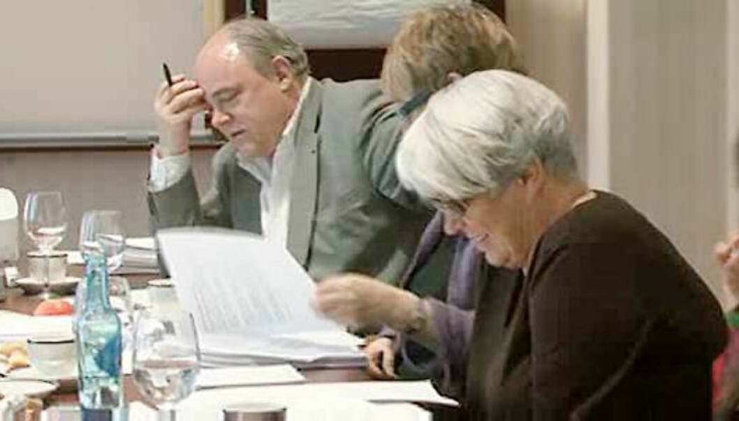 Fra video-overføringen av PFUs møte 31. mars. Foto: Espen Moe