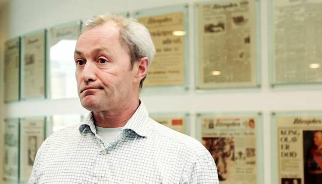 Thomas Spence er ansatterepresentant i Aftenpostens styre og leder av Oslo Journalistlag. Foto: Birgit Dannenberg