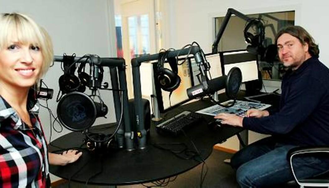 Tuva Jorfald og Lars Eikander i Radio Metro. Foto: Birgit Dannenberg