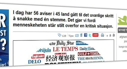 Dagbladet i globalt samarbeid