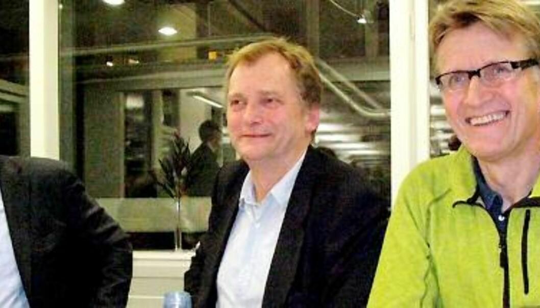 Jon Gelius, Erik Fosse og Mads Gilbert. Foto: Helge Øgrim