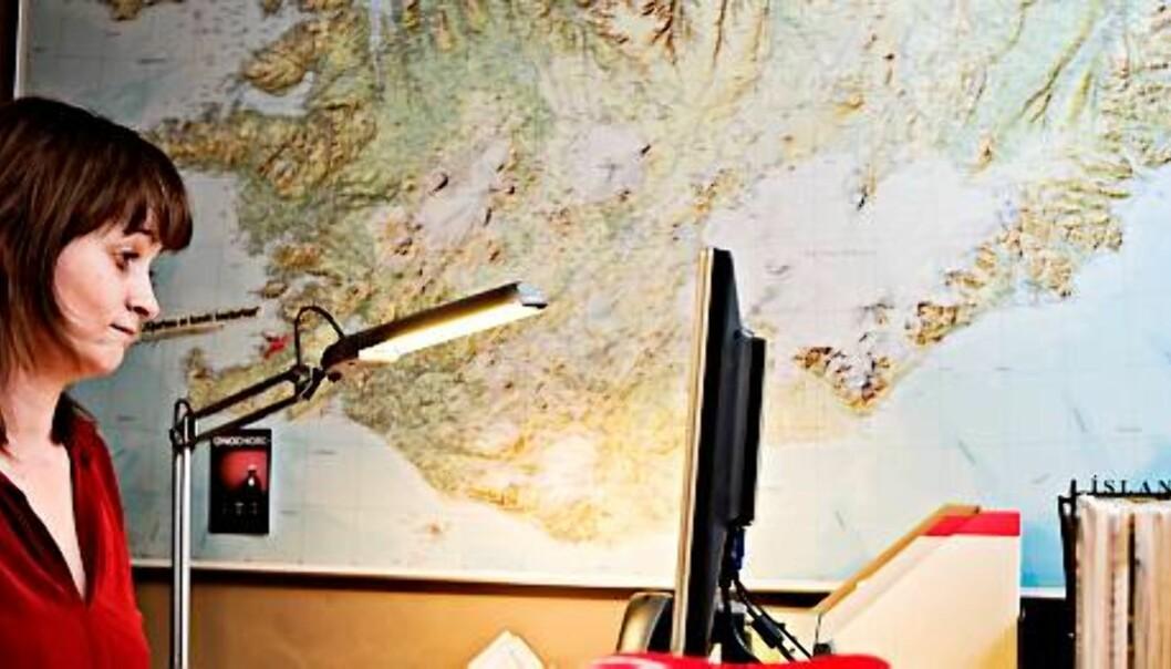 DYRT EVENTYR: Svanborg Sigmarsdóttir i Fréttablaðið, gratisavisen som skulle ta verden med storm. Foto: Haraldur Jónasson