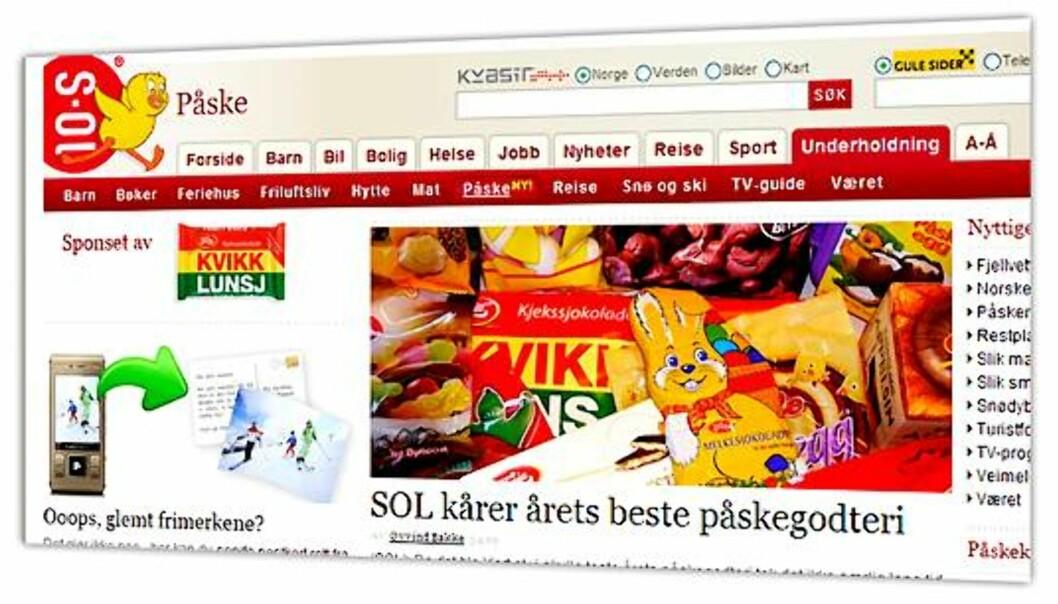 Skjermdump fra SOLs hjemmesider.