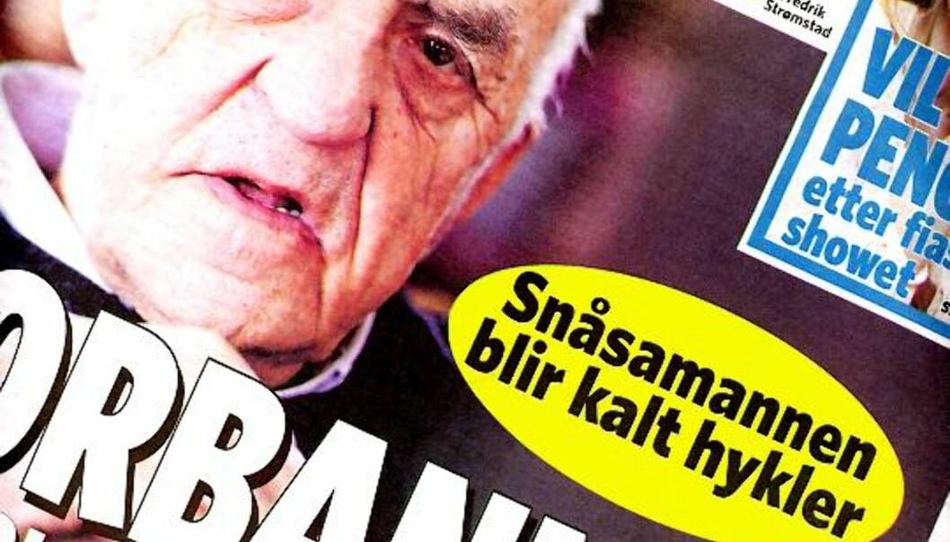 Faksimile av Dagbladet 11. februar 2009.